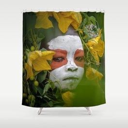 Suri Green Shower Curtain