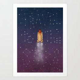 Travel to the Stars Art Print