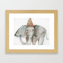 Elephant Sized Fun Framed Art Print