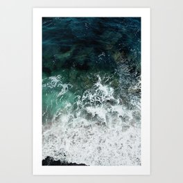 Pacific Ocean Colors Art Print