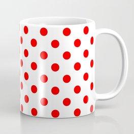 Red Dots Coffee Mugs | Society6