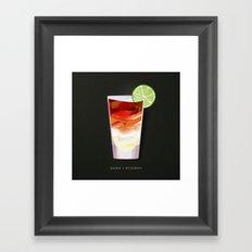 Cocktail Hour: Dark + Stormy Framed Art Print