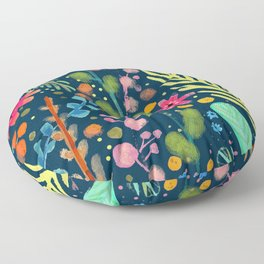 les prairies (navy) Floor Pillow