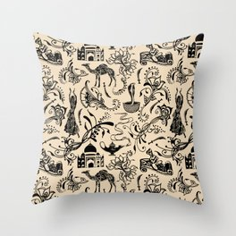 Arabian Nights // Desert Sand Throw Pillow