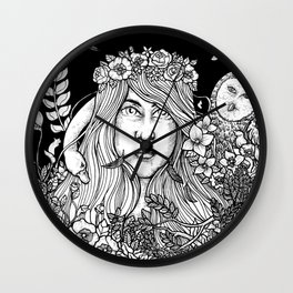 Women and Owl Wall Clock