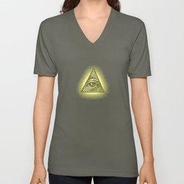 8-Bit Illuminati Unisex V-Neck