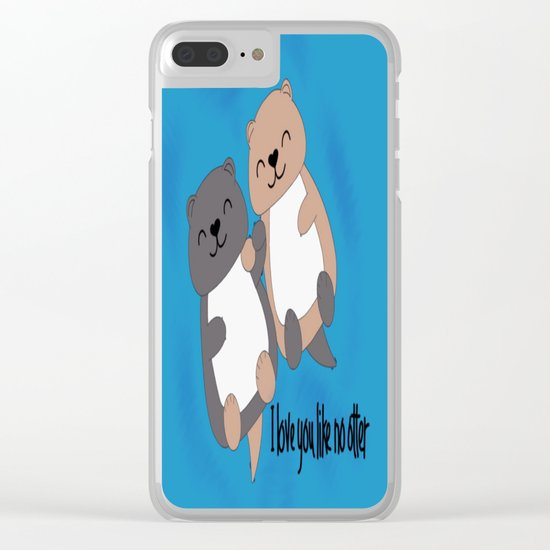 I love you like no otter Clear iPhone Case