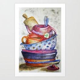 Daily Chores Art Print