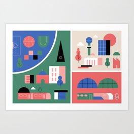 City Map Fragment III Art Print