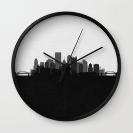 City Skylines: Pittsburgh (Alternative) Wall Clock