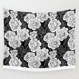ROSE GARDEN BW Wall Tapestry
