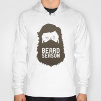 logo Hoodies featuring Beard Season by Chase Kunz