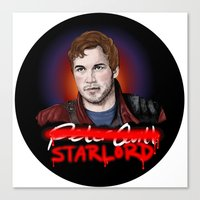 starlord Canvas Prints featuring Peter Quill - StarLord by xKxDx