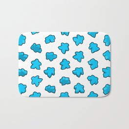 Meeple Mania Icy Blue Bath Mat