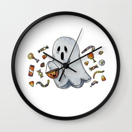 Halloween Ghost ! Wall Clock