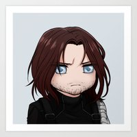 the winter soldier Art Prints featuring Winter Soldier by Kuraven