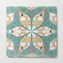 Moroccan Venus Flower Star Intricate Tile Boho Mandala Metal Print
