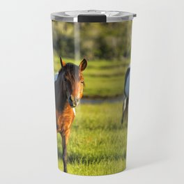 Leaving The Chincoteague Ponies Travel Mug