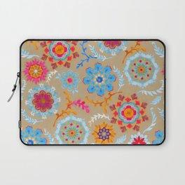 Brown Sugar Suzani Inspired Pattern Laptop Sleeve