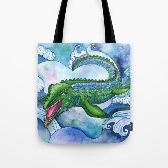 Mervyn the Marvelous Mosasaurus Tote Bag
