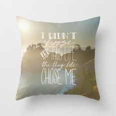 Oddly Placed Quotes 2 : Thug Life Throw Pillow