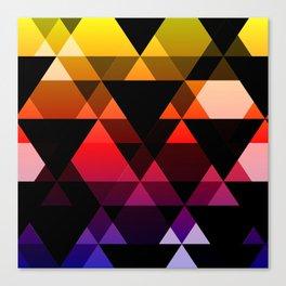 Bright Modern Trangles Canvas Print