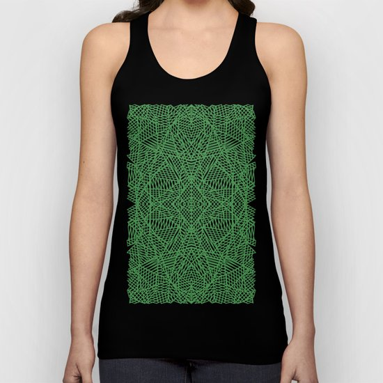 Ab Lace Green Unisex Tank Top