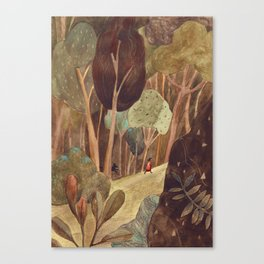 Walk in a forest Canvas Print