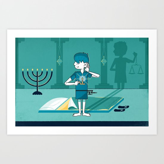 Samuel Hears God's Voice (by Corbin Watkins) Art Print