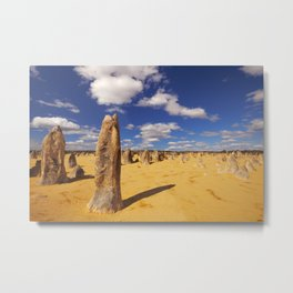 The Pinnacles Desert in Nambung National Park, Western Australia Metal Print