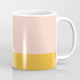 Color Block Millennial Pink Mustard Yellow Coffee Mug
