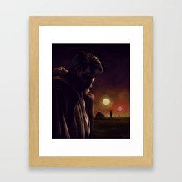 I will watch over the boy Framed Art Print