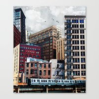 Canvas Prints featuring Rooftop #7 by Tim Jarosz