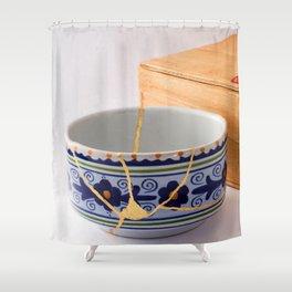 Kintsugi Bowl Shower Curtain