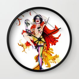 Cracked Actor Wall Clock