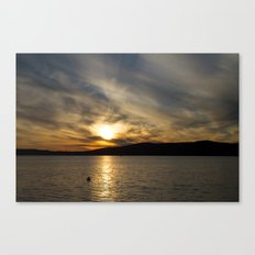 Let's watch the sun go down Canvas Print