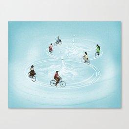Ride On Ripples Canvas Print