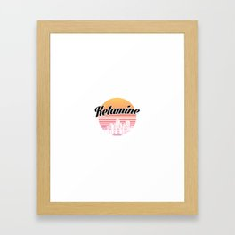 Ketamine drug | retro vintage art work Framed Art Print