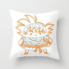 Cheeseburger Goku Throw Pillow
