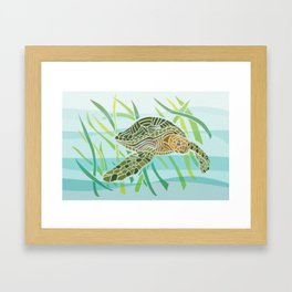 Sea Turtle at Home Framed Art Print