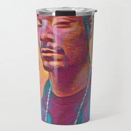 Snoop Dogg Thoughtful Artistic Illustration Acid Acrylic Style Travel Mug