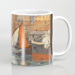 Emerald Coast 01 - Vintage Poster Coffee Mug