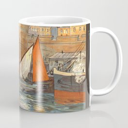 Emerald Coast 01 - Vintage Poster Coffee Mug