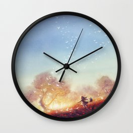 Never Stop Running Towards Your Dream Wall Clock