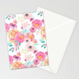 Indy Bloom Design Blush White Florals Stationery Cards
