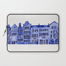 Row of Houses – Navy Palette Laptop Sleeve