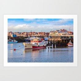 Yorkshire Belle in Bridlington Harbour Art Print