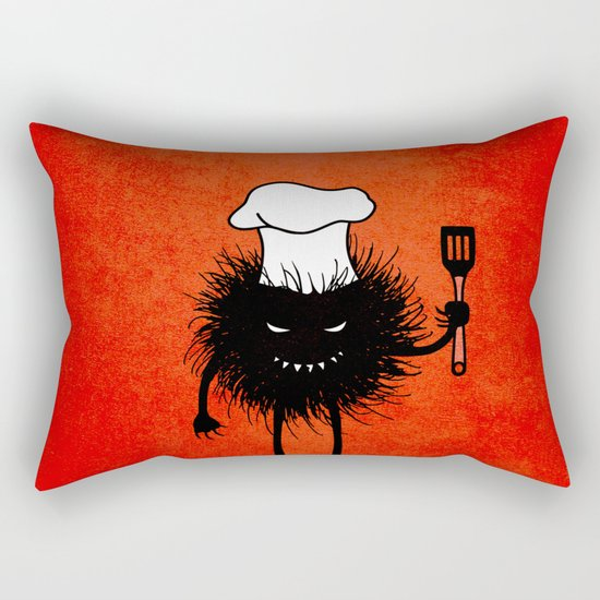 Evil Bug Chef Loves To Cook Rectangular Pillow