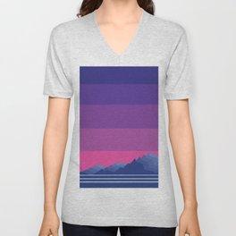 Sunset Mountain Range Unisex V-Neck