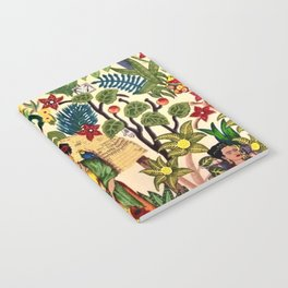 Frida's Garden, Casa Azul Lush Greenery Frida Kahlo Landscape Painting Notebook